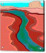 Red Mesa Acrylic Print