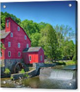 Red Mill Of Clinton New Jersey Acrylic Print