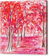Red Mood Acrylic Print