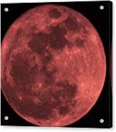 Red Moon Acrylic Print