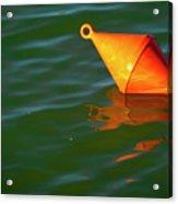 Red Mooring Buoy Acrylic Print