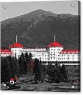 Red Mount Washington Resort Acrylic Print