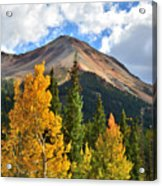 Red Mountain Fall Colors Acrylic Print