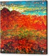 Red Mountain Acrylic Print