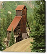 Red Mountain Mine. Acrylic Print