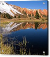 Red Mountain Reflection Acrylic Print