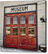 Red Museum Door Acrylic Print