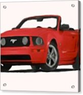 Red Mustang Acrylic Print