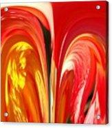 Red N Yellow Flowers 4 Acrylic Print