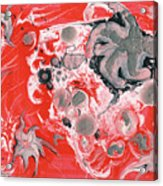 Red Nebula Acrylic Print