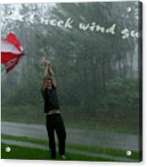 Red Neck Wind Guage Acrylic Print