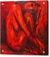 Red Nude Acrylic Print