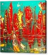 Red Nyc Acrylic Print