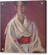 Red Obi Acrylic Print