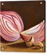 Red Onion Still Life Acrylic Print