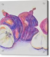 Red Onions And Garlic Acrylic Print