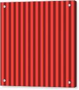 Red Orange Striped Pattern Design Acrylic Print