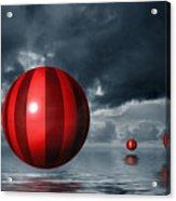 Red Orbs Acrylic Print