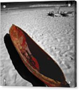 Red Paddle Boat Playa Del Carmen Acrylic Print