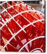 Red Paddle Wheel Acrylic Print