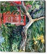 Red Pagoda Acrylic Print