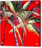 Red Palms Acrylic Print