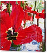 Red Party Flowers IIi Acrylic Print