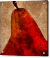 Red Pear II Acrylic Print by Carol Leigh