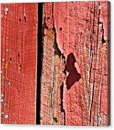 Red Peeling Paint- Fine Art Acrylic Print