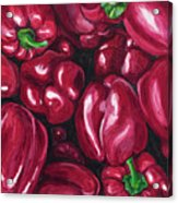 Red Peppers Acrylic Print by Patty Vicknair