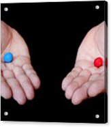Red Pill Blue Pill Acrylic Print by Semmick Photo