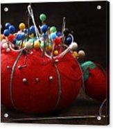 Red Pin Cushion Acrylic Print