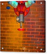 Red Pipe Acrylic Print