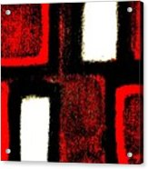 Red Plaid Acrylic Print by Marsha Heiken