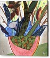 Red Planter Acrylic Print