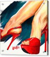 Red Platforms Acrylic Print
