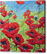 Red Poppies By Prankearts Acrylic Print