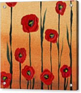 Red Poppies Decorative Art Acrylic Print