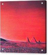 Red Pyramid W Acrylic Print