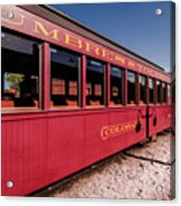 Red Rail Cars Acrylic Print