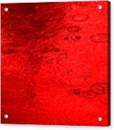 Red Rain Droplets Acrylic Print