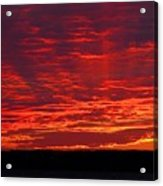 Red Ray Sunset Acrylic Print