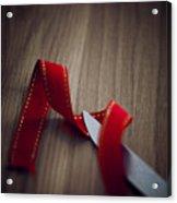 Red Ribbon Acrylic Print