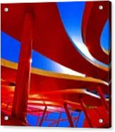 Red Ride Blue Sky Acrylic Print