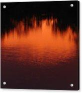 Red Ripples Acrylic Print
