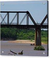 Red River Railroad Crossing Acrylic Print