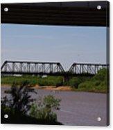 Red River Truss Bridge Acrylic Print