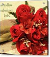 Red Roas Bouquet Jude 2 Acrylic Print
