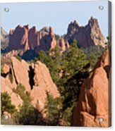 Red Rock Canyon And Garden Of The Gods Acrylic Print