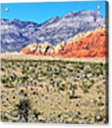 Red Rock Canyon Panorama Acrylic Print